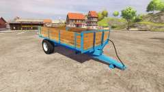 Single axle tipper trailer