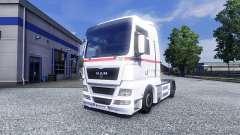 Skin Wheels Logistics on the truck MAN