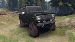 International Scout II 1977 black for Spin Tires
