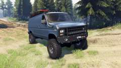 Ford E-350 Econoline 1990 v1.1 blue-gray