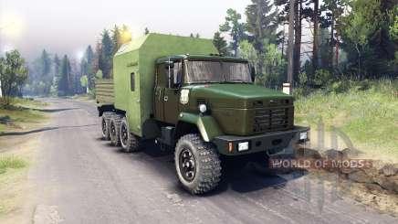 KrAZ-7140 green for Spin Tires