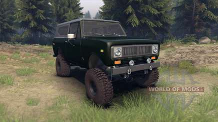 International Scout II 1977 dark green poly for Spin Tires