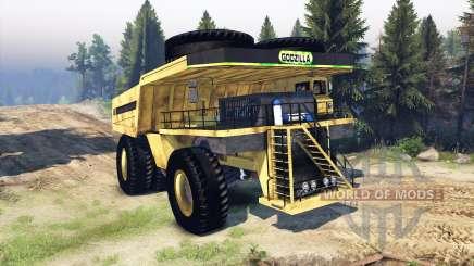 Dump truck Godzilla for Spin Tires