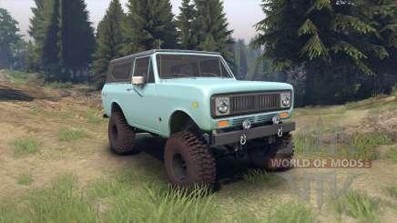 International Scout II 1977 glacier blue for Spin Tires