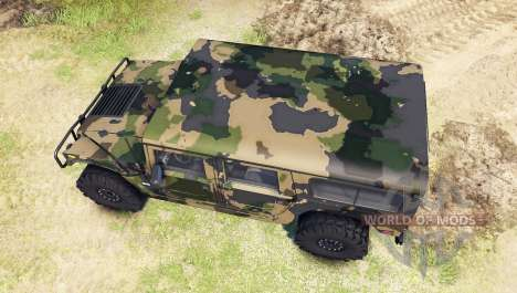 Hummer H1 camo for Spin Tires