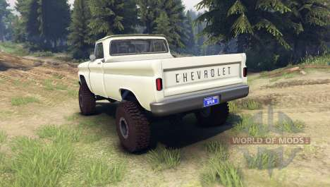 Chevrolet С-10 1966 Custom chat slate for Spin Tires