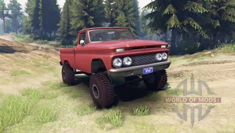 Chevrolet С-10 1966 Custom aztec bronze for Spin Tires