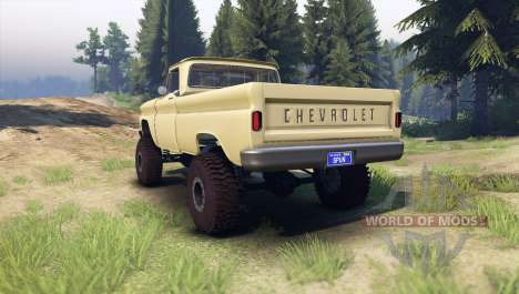 Chevrolet С-10 1966 Custom sandalwood tan for Spin Tires