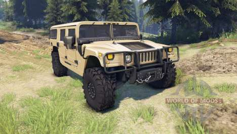 Hummer H1 tan for Spin Tires