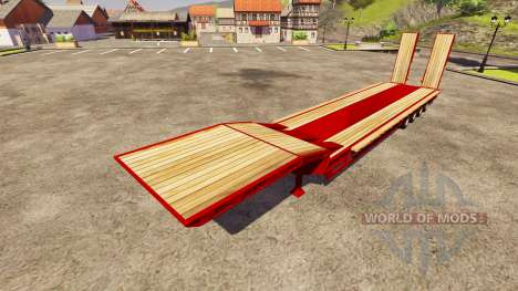 Semi-trawl Goldhofer for Farming Simulator 2013