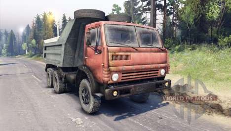 KamAZ-5511 red grille for Spin Tires