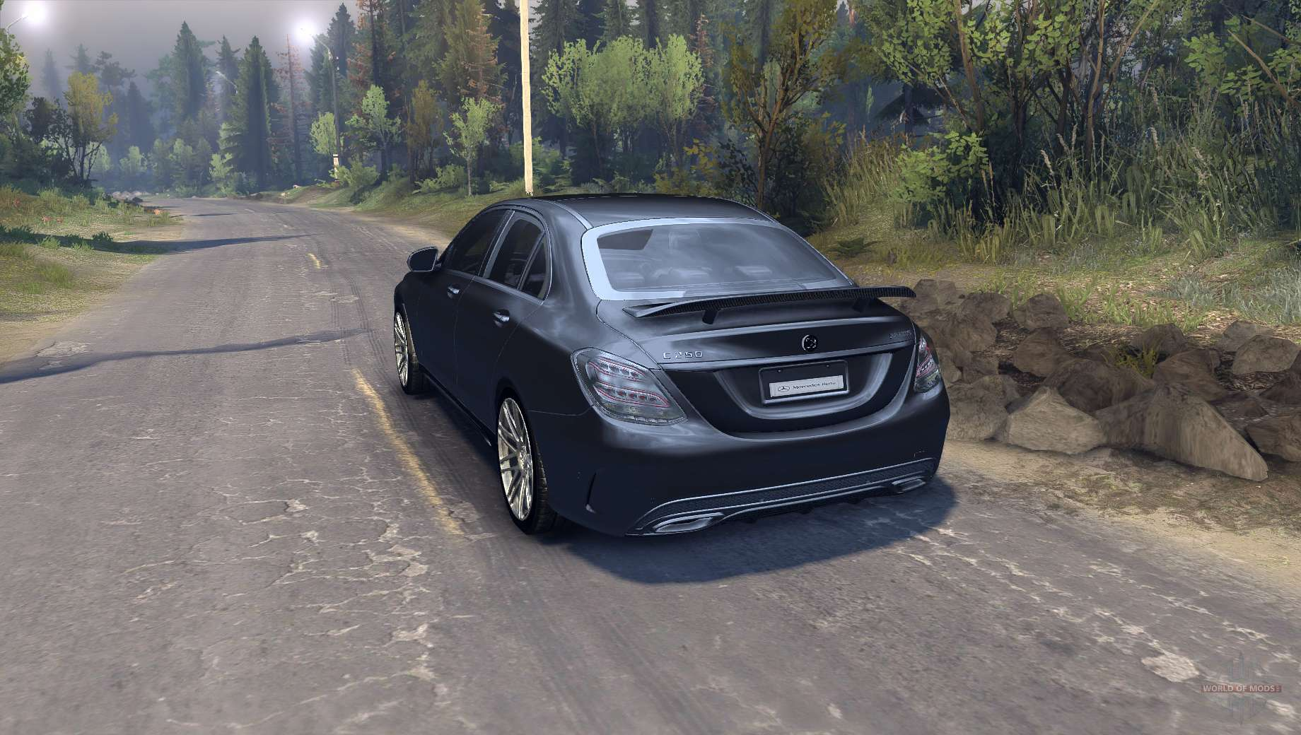 mercedes benz c250 brabus for spin tiresmod for spintires 2014