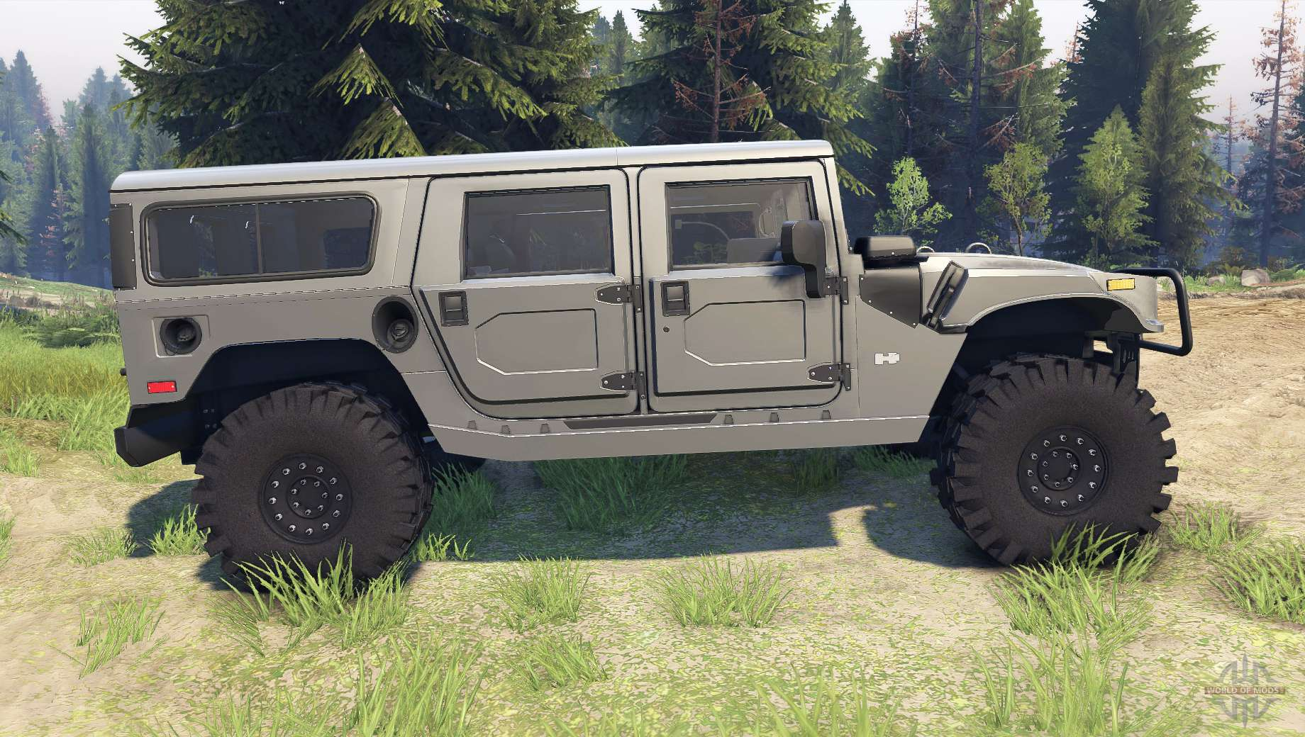 hummer h1 army grey for spin tires. Black Bedroom Furniture Sets. Home Design Ideas