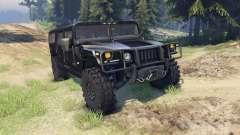 Hummer H1 black for Spin Tires