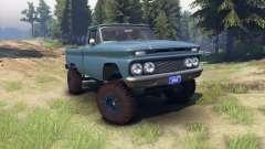 Chevrolet С-10 1966 Custom marina blue