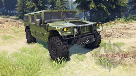 Hummer H1 green for Spin Tires