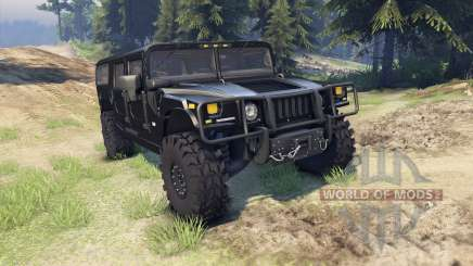 Hummer H1 black for Spin Tires