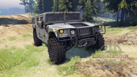 Hummer H1 gray for Spin Tires
