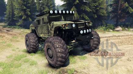 HMMWV M-1025 for Spin Tires