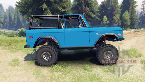 Ford Bronco 1966 [blue] for Spin Tires