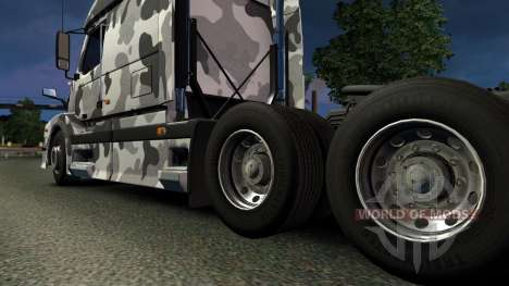 Volvo VNL 670 Urban Camo Skin for Euro Truck Simulator 2