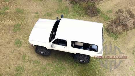 Chevrolet K5 Blazer 1975 [final] [white] for Spin Tires