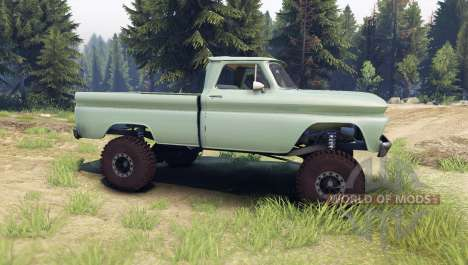 Chevrolet С-10 1966 Custom willow green for Spin Tires