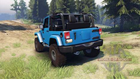 Jeep Wrangler blue for Spin Tires