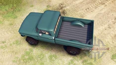 Chevrolet С-10 1966 Custom tropic turquoise for Spin Tires