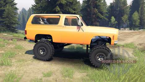 Chevrolet K5 Blazer 1975 [final] [orange] for Spin Tires