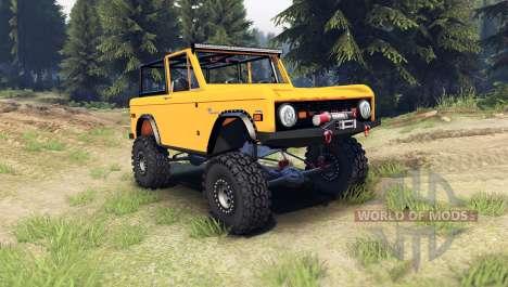Ford Bronco 1966 [orange] for Spin Tires