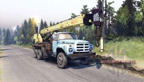 ZIL-133 truck crane GA for Spin Tires