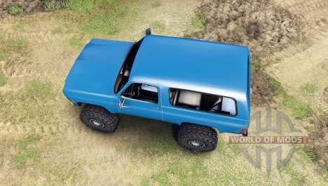 Chevrolet K5 Blazer 1975 [final] [blue] for Spin Tires