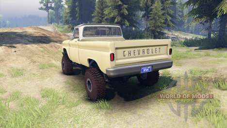 Chevrolet С-10 1966 Custom two tone sandalwood for Spin Tires