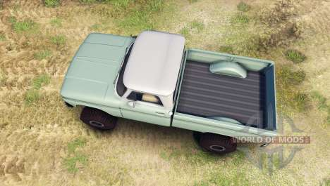 Chevrolet С-10 1966 Custom two tone willow green for Spin Tires