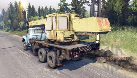 ZIL-133 truck crane GA for Spin Tires