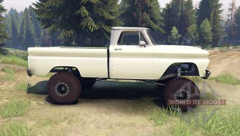 Chevrolet С-10 1966 Custom two tone chat slate for Spin Tires