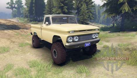 Chevrolet С-10 1966 Custom two tone sandalwood for Spin Tires