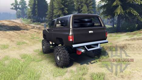 Chevrolet K5 Blazer 1975 [final] [black] for Spin Tires