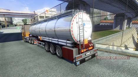 Trailers Techno Chemicals for Euro Truck Simulator 2