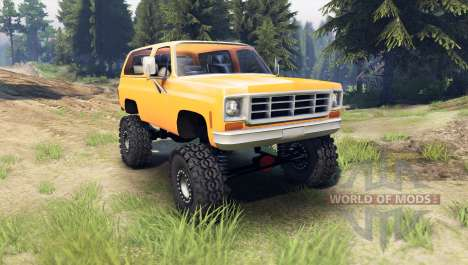 Chevrolet K5 Blazer 1975 [final] [orange] for Spin Tires