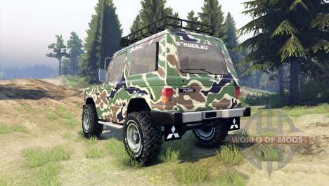 Mitsubishi Pajero I for Spin Tires