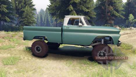 Chevrolet С-10 1966 Custom two tone tropic for Spin Tires