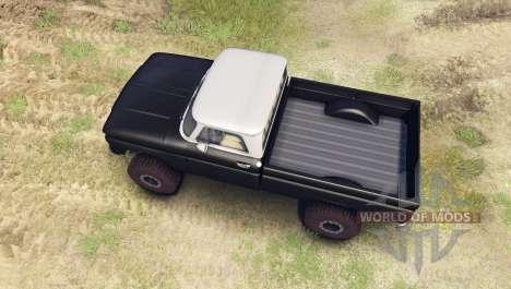 Chevrolet С-10 1966 Custom two tone tuxedo black for Spin Tires