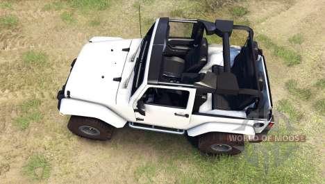 Jeep Wrangler white for Spin Tires