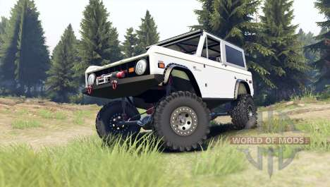 Ford Bronco 1966 [white] for Spin Tires