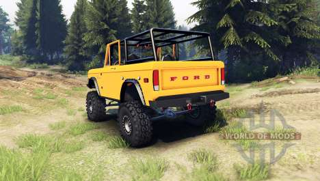 Ford Bronco 1966 [orange] for Spin Tires