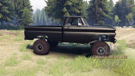 Chevrolet С-10 1966 Custom tuxedo black for Spin Tires