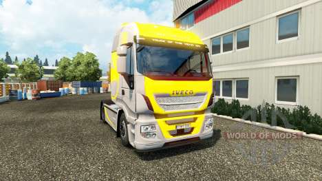 Skin Hi Way Yellow Grey on the truck Iveco for Euro Truck Simulator 2