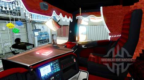 Red interior Scania for Euro Truck Simulator 2
